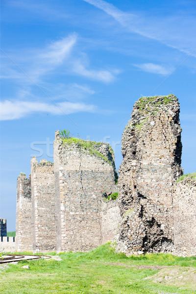 Sérvia castelo arquitetura ruínas ao ar livre Foto stock © phbcz