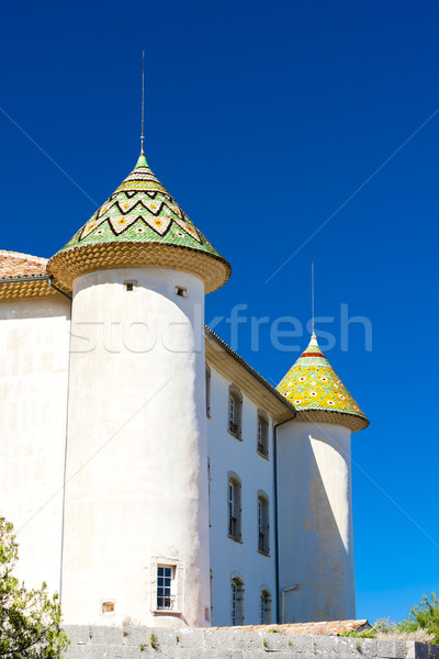 chateau in Aiguines, Var Department, Provence, France Stock photo © phbcz