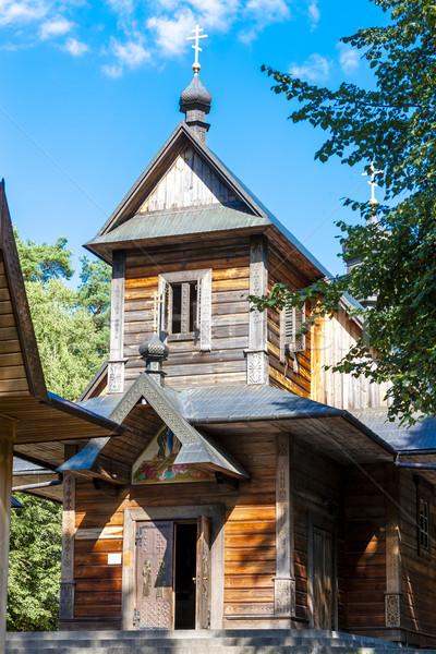 Ortodoxo igreja montanha arquitetura europa Foto stock © phbcz
