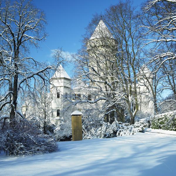 Konopiste Chateau in winter, Czech Republic Stock photo © phbcz