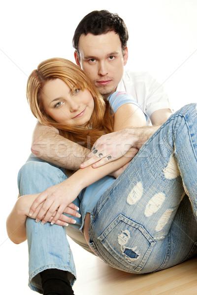 hugging couple Stock photo © phbcz