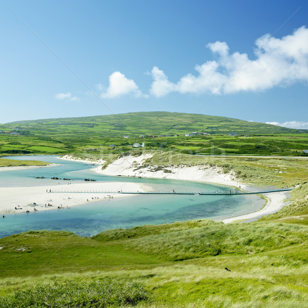 beach with foot bridge, Barleycove, County Cork, Ireland Stock photo © phbcz