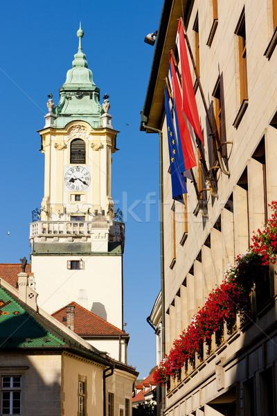 Oude binnenstad hal Bratislava Slowakije gebouw stad Stockfoto © phbcz