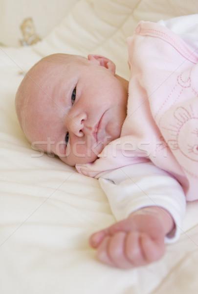 Portret handen gezicht kinderen kind meisjes Stockfoto © phbcz