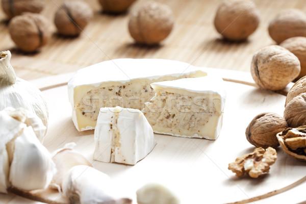 Kaas mengsel gehakt voedsel moer gezonde Stockfoto © phbcz
