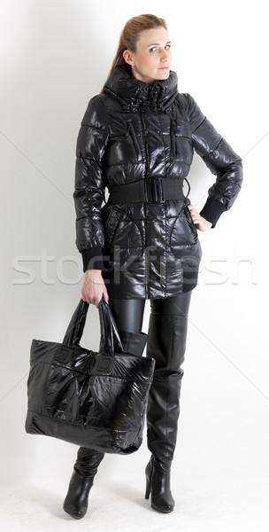 立って 女性 着用 黒 服 ストックフォト © phbcz
