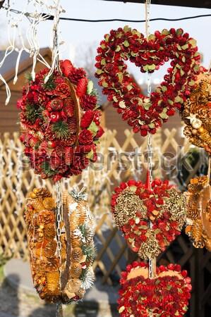 Karácsony piac Bécs Ausztria szeretet ajándék Stock fotó © phbcz