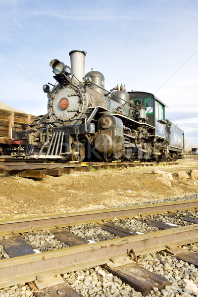 Haste locomotiva Colorado ferrovia museu EUA Foto stock © phbcz
