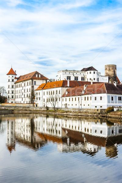 Kale saray Çek Cumhuriyeti su Bina seyahat Stok fotoğraf © phbcz