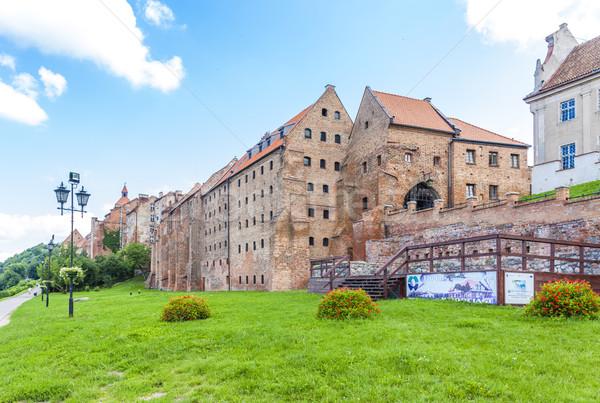 Medieval Polônia casa edifício cidade arquitetura Foto stock © phbcz