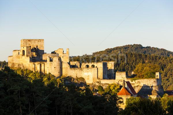 Ruínas castelo República Checa edifício viajar arquitetura Foto stock © phbcz
