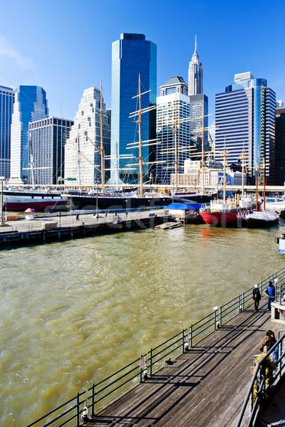 Pier 17 Manhattan New York City USA stad Stockfoto © phbcz