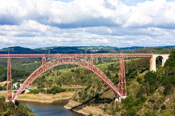 Afdeling Frankrijk brug reizen architectuur engineering Stockfoto © phbcz