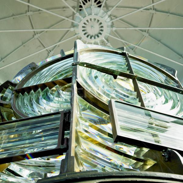 lighthouse's interior, Fresnel lens, Cayo Pared Stock photo © phbcz