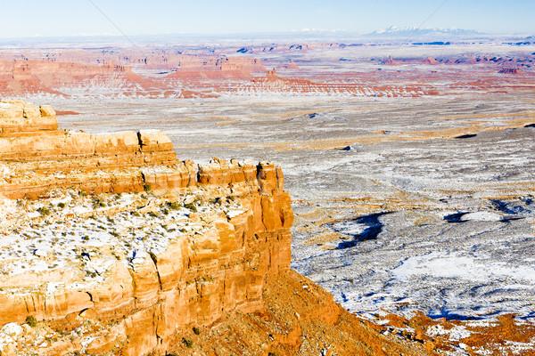 Winter landschap Utah USA sneeuw rock Stockfoto © phbcz
