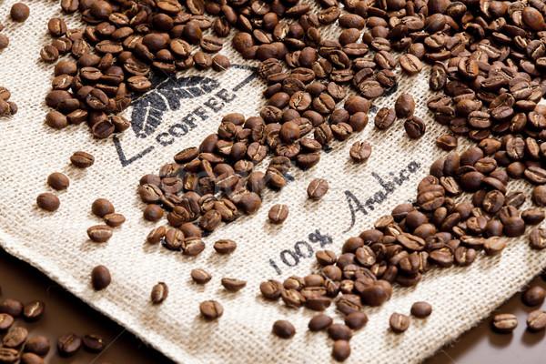 Сток-фото: натюрморт · кофе · кофе · знак · пить · коричневый