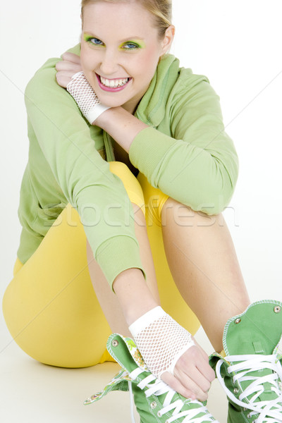 sitting woman Stock photo © phbcz