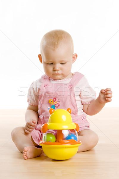 Giocattolo seduta piano ragazzi bambino Foto d'archivio © phbcz