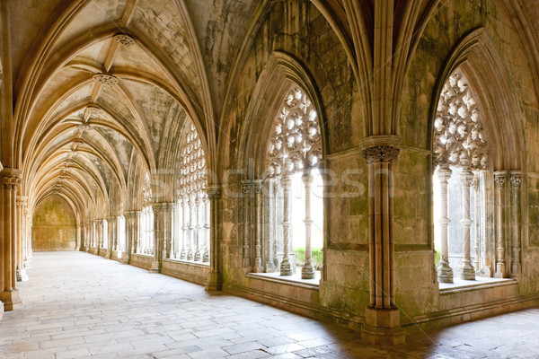 Royal cloister of Santa Maria da Vitoria Monastery, Batalha, Est Stock photo © phbcz