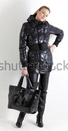 сидят экстравагантный одежды женщины Сток-фото © phbcz