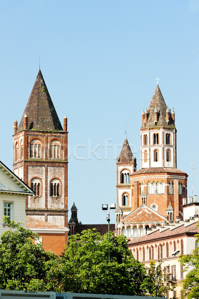 Bazilika Olaszország épület építészet Európa történelem Stock fotó © phbcz