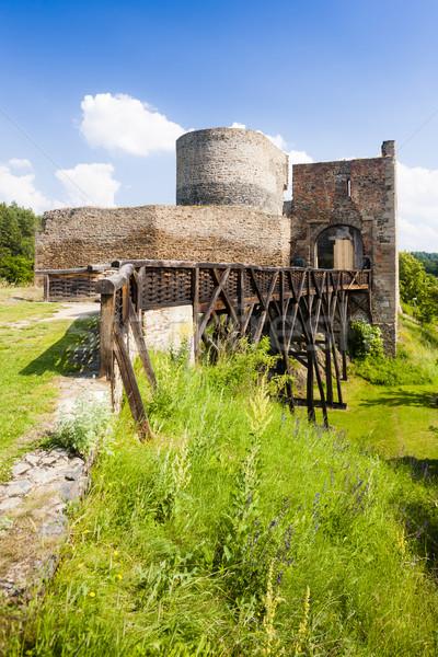 ören kale Çek Cumhuriyeti Bina seyahat mimari Stok fotoğraf © phbcz