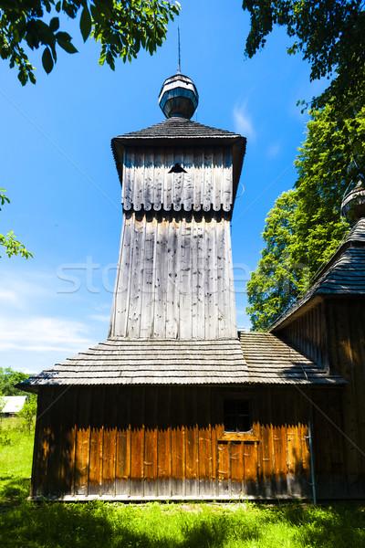Houten kerk Slowakije architectuur Europa buitenshuis Stockfoto © phbcz