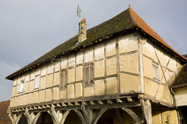 wooden house from the 15th century, Mervans, Burgundy, France Stock photo © phbcz