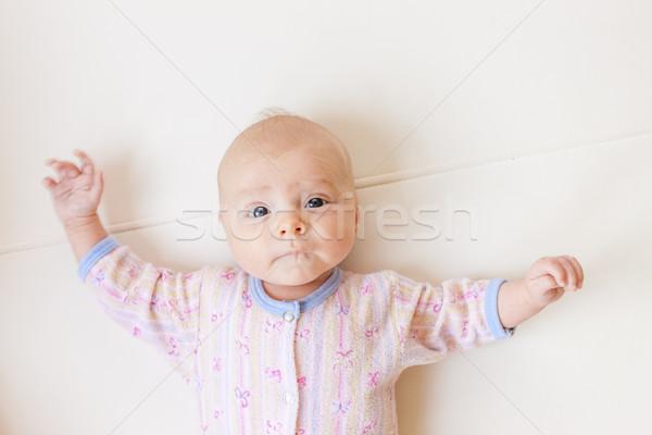Retrato dos mes edad nina Foto stock © phbcz