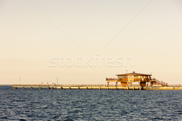 esplanade in Puck, Pomerania, Poland Stock photo © phbcz