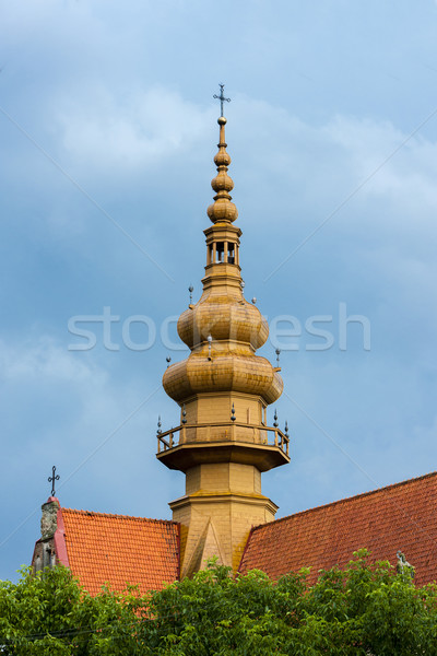 Saint église architecture Europe tour Pologne Photo stock © phbcz