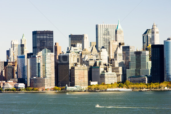 Manhattan New York City USA eau Voyage bâtiments Photo stock © phbcz