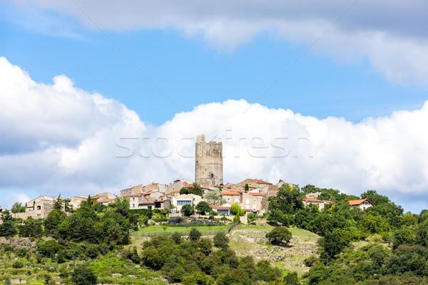 Afdeling Frankrijk huis reizen kasteel architectuur Stockfoto © phbcz