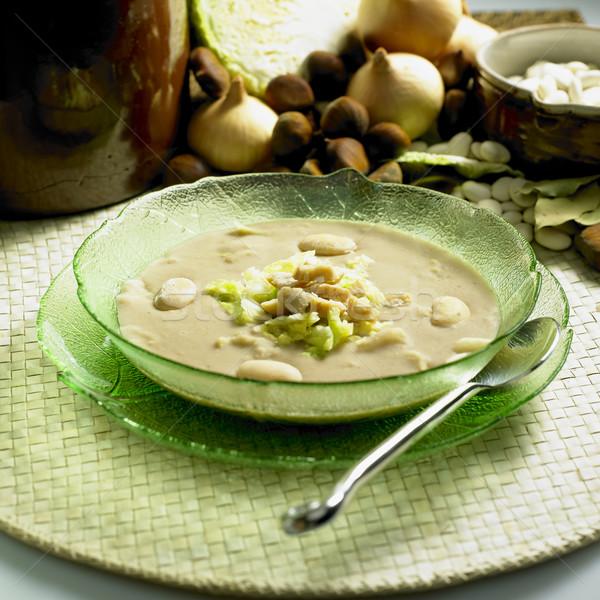 каштан суп капуста продовольствие здоровья ложку Сток-фото © phbcz