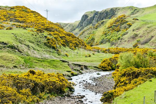 Paisaje tierras altas Escocia viaje Bush corriente Foto stock © phbcz