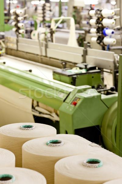 текстильной машина технологий промышленности завода объект Сток-фото © phbcz
