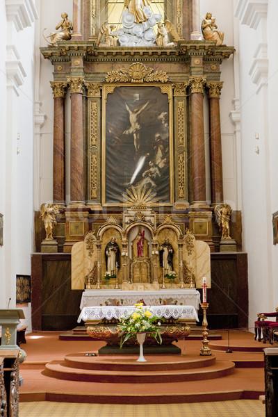 interior of Church of Saint Cross, Znojmo, Czech Republic Stock photo © phbcz