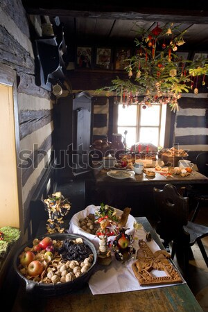 Christmas room, scanzen Vesely Kopec, Czech Republic Stock photo © phbcz