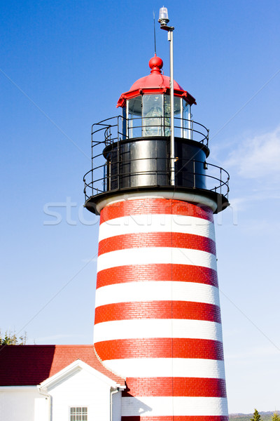 Ouest tête phare Maine USA bâtiment Photo stock © phbcz