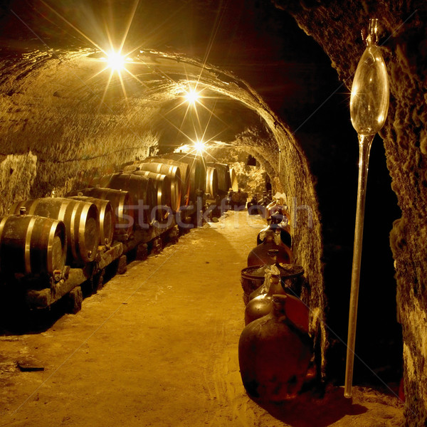 wine cellar, Vrba Winery, Vrbovec, Czech Republic Stock photo © phbcz