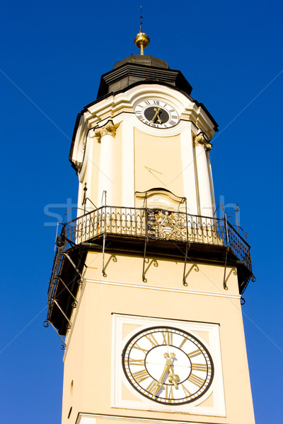 detail of Tower of the Clock, SNP Square, Banska Bystrica, Slova Stock photo © phbcz