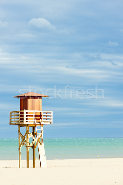 Sauveteur cabine plage mer Voyage Europe Photo stock © phbcz
