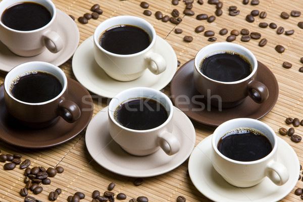 Zdjęcia stock: Kubki · do · kawy · martwa · natura · kawy · pić · Kafejka · fasoli