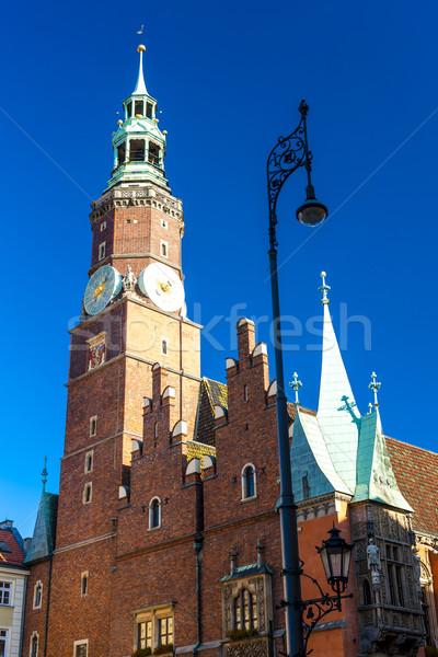 Belediye binası ana pazar kare Polonya Bina Stok fotoğraf © phbcz