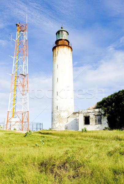 Punt vuurtoren Barbados gebouw veiligheid architectuur Stockfoto © phbcz