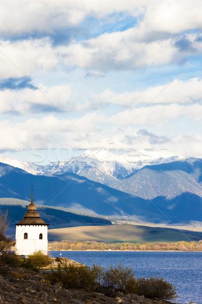 Liptovska Mara with Western Tatras at background, Slovakia Stock photo © phbcz