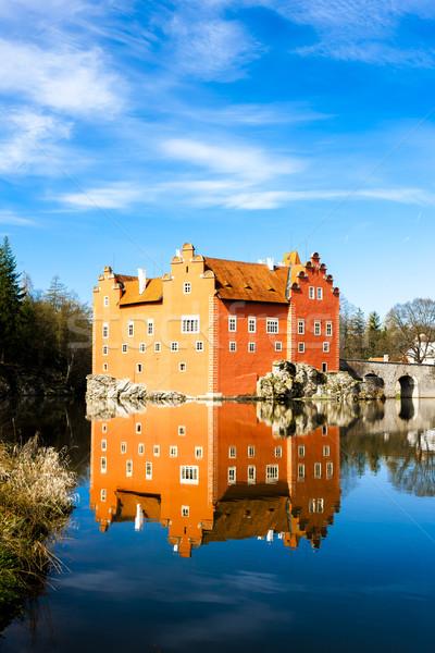 Palacio República Checa agua viaje castillo arquitectura Foto stock © phbcz