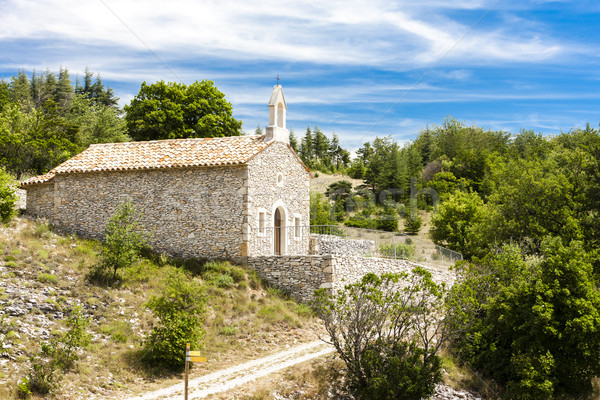 chapel in Le Ventouret, Provence, France Stock photo © phbcz