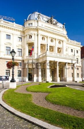 Teatru Bratislava Slovacia clădirilor teatru arhitectură Imagine de stoc © phbcz