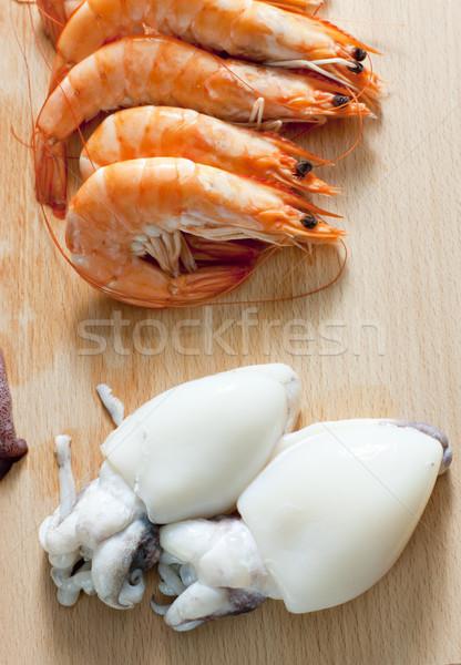 натюрморт сырой морепродуктов продовольствие совета здорового Сток-фото © phbcz